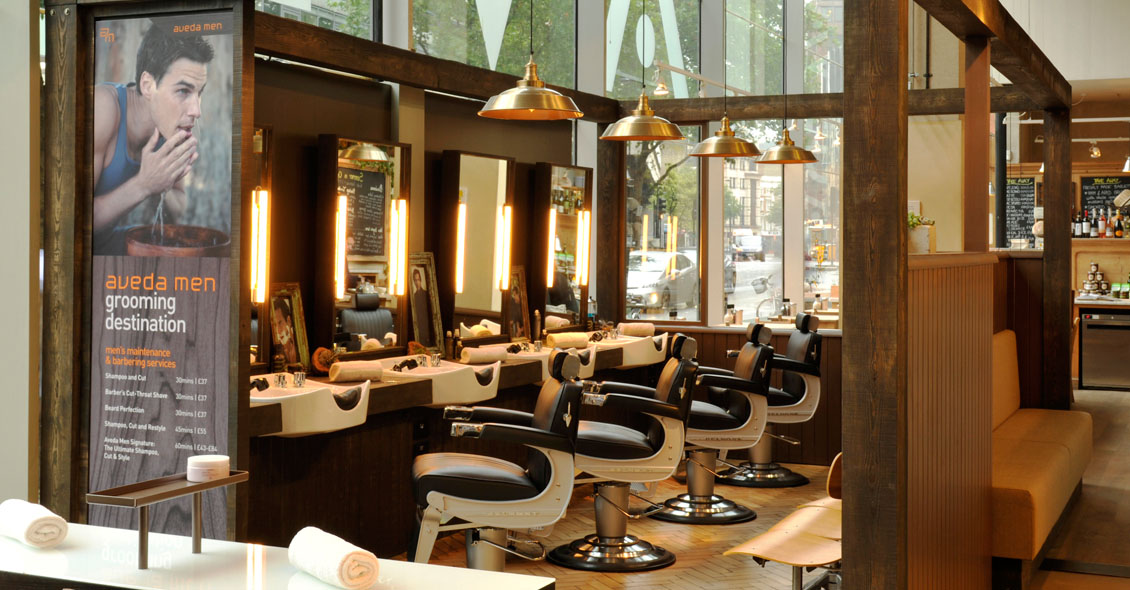 Aveda's mens grooming destination - High Holborn, London