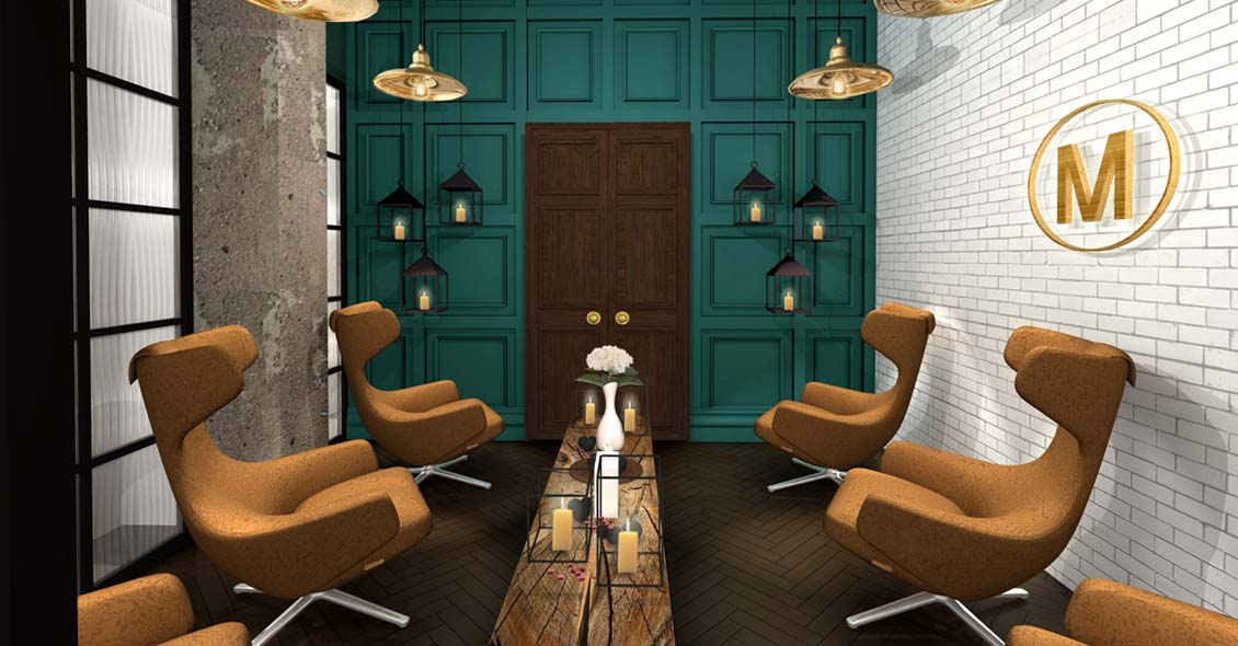 Interior design for spa relaxation room