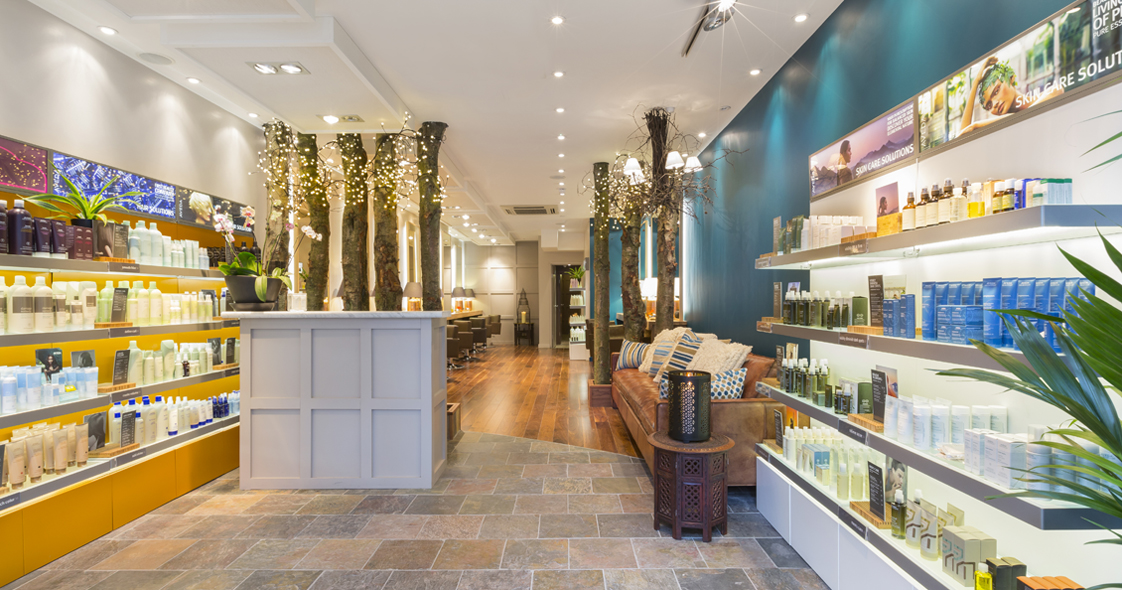 Aveda salon design of interior