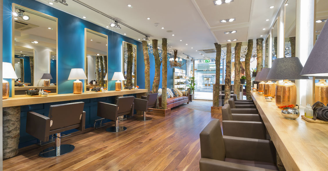 Interior of Aveda salon & spa design